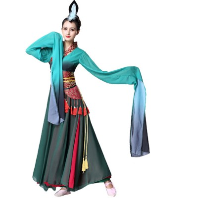 Chinese folk dance costumes ancient traditional yangko fairy hanfu drama anime cosplay stage performance dresses