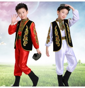 Chinese folk dance costumes for boys children Kazakh kindergarten boys  xinjiang dance clothes costumes