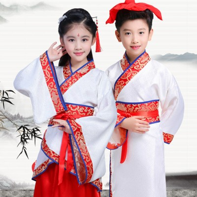 Chinese folk dance costumes for girls boys hanfu ancient traditional classical stage performance party cosplay princess fairy dress
