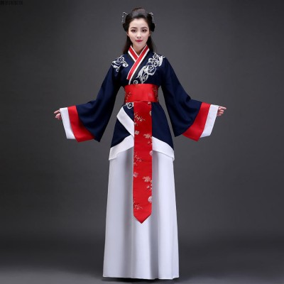 Chinese folk dance costumes for women ancient traditional hanfu tang fairy Korean japan photos birthday party cosplay robes dresses