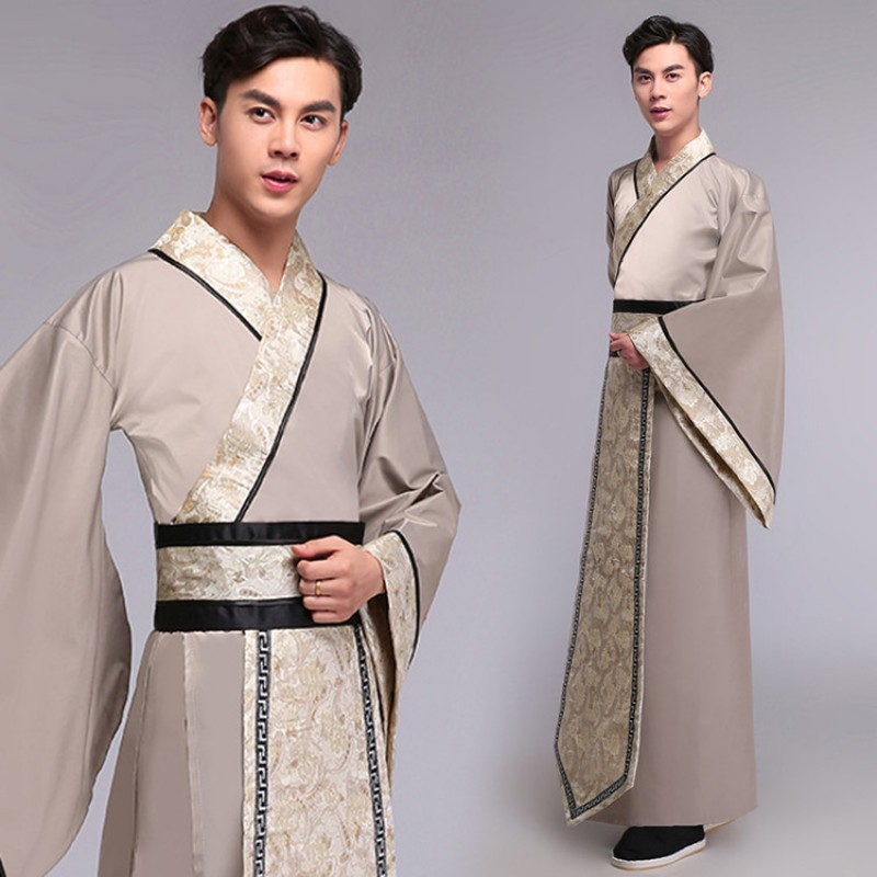 Chinese folk dance Costumes men's hanfu annual meeting ancient drama photos cosplay costume martial arts robes scholars show clothes