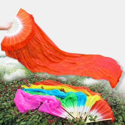 Chinese folk dance fans for female belly dance extend length ancient traditional yangko fairy cosplay dance fans 1.5m
