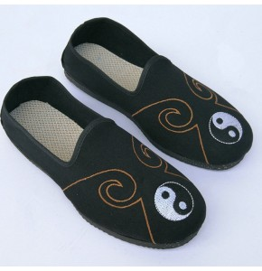 Chinese folk dance shoes for men Taoist priest Monk wushu kungfu taichi drama stage performance cosplay practice flats shoes