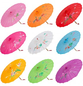 Chinese folk dance umbrella colored for children kids girls oil paper dance umbrella dance accessories props for kids 3 to 8years