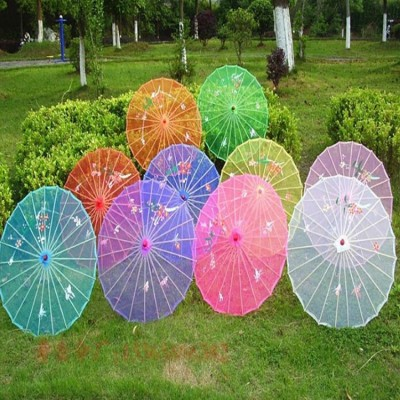 Chinese folk dance  umbrella for girls children handcraft ancient traditional fan dance props accessories