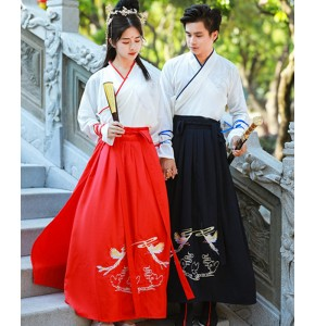 Chinese Hanfu for women men's swordsman knight fairy chinese ancient film cosplay dresses