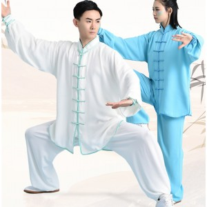Chinese kung fu uniforms tai chi clothing men's and women's training clothes morning exercise sportswear cotton breathable skin training clothes