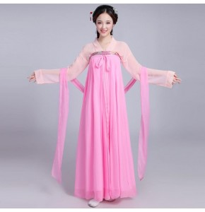 Chinese traditional Hanfu ancient tang dynasty princess fairy cosplay dress chinese folk dance costumes