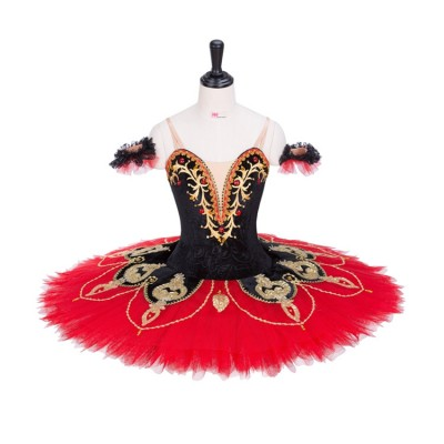 Custom size classical professional ballet dress for girls children competition pancake tutu skirts