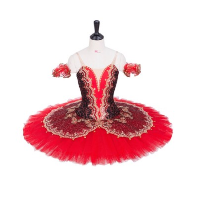 Custom size professional classical ballerina ballet competition dress for kids children tutu pancacke skirts
