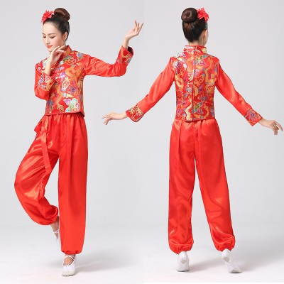 dragon dance Drum  performance costume for women men Chinese dragon lion dance waist drum Yangko performance Costume