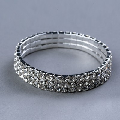 Female adult belly dance jewelry bracelet children's stretchable silver rhinestone hand ring dance arm band ornaments