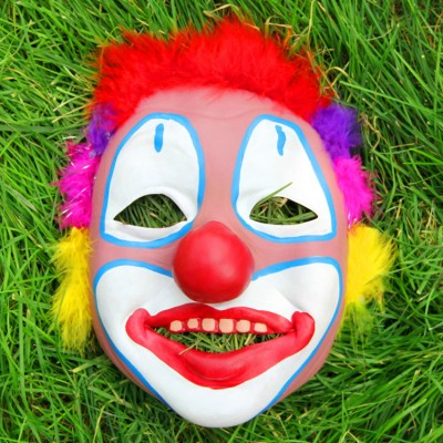 Fool's Day masquerade face clown mask for women man dress up show masks props horror cosplay mask