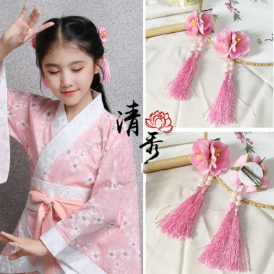 Girls ancient chinese folk dance ancient  traditional drama hanfu photos cosplay hair accessories traditional hairpin hair clip headdress