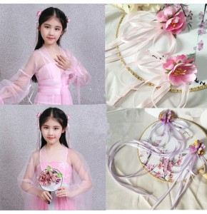 Girls ancient Chinese folk dance hair accessories traditional fairy princess hanfu drama cosplay dress cosplay hairpin headdress