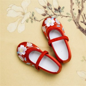 Girls baby hanfu embroidered flowers shoes  chinese princess drama photograhy show performance clothing shoes