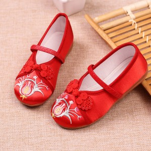 Girls baby hanfu shoes chinese folk dance embroidered shoes fairy princess drama cospley clothing shoes