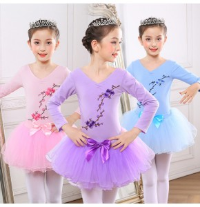 Girls ballet dance dresses gymnastics practice stage performance Lycra cotton ballet dance test dancing leotards tops and tutu skirts