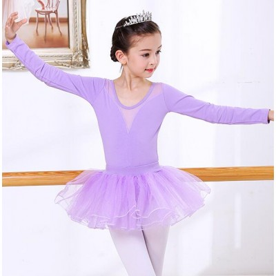 Girls ballet dresses tutu skirt stage performance professional practice gymnastics competition leotards tops and skirts dresses
