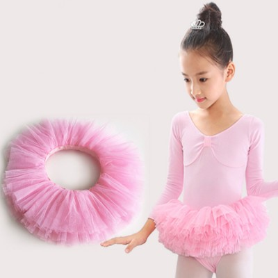 Girls  ballet tutu skirt platters layers tulle cake princess stage performance skirts