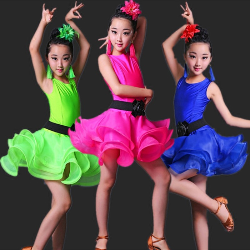 Girls Ballet dress Latin Dancing costumes Child/'s Kids BallroomSalsa dancewear