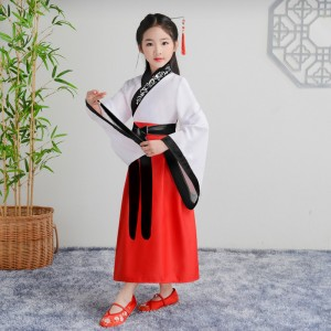 Girls boys chinese hanfu princess fairy cosplay dress for kids traditional Chinese culture performance costume girl's Chinese style Ru skirt