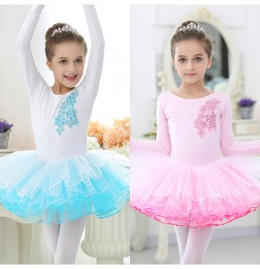 Girls children ballet tutu skirt stage performance dresses children kids modern dance school competition gymnastics practice dresses
