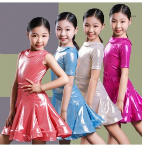 Girls children competition ballroom latin dance dresses kids rumba chacha rumba salsa dance skirts dresses costumes