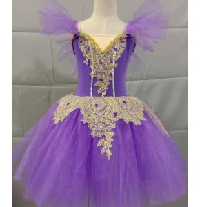 Girls children modern dance ballet dresses stage performance  tutu ballet dance costumes