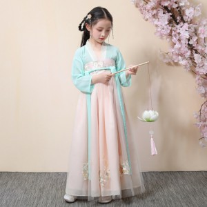Girls chinese folk dance dresses hanfu stage performance drama fairy cosplay phtotos studioo robes princess dresses