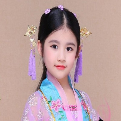Girls chinese folk dance fairy drama cosplay headdress stage performance ancient princess empress cosplay hair clip hair accessories