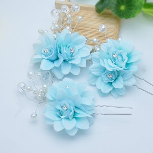 Girls Chinese folk dance hair accessories fairy princess drama photos hairpin cosplay stage performance hanfu head dress flowers