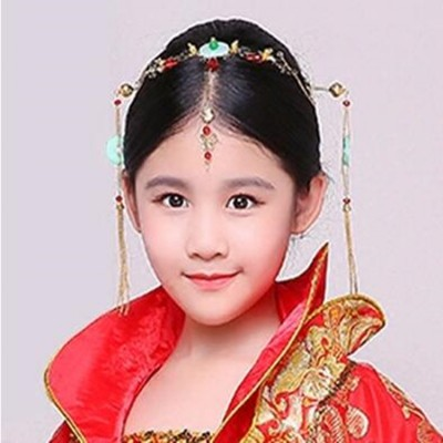 Girls chinese folk dance hair accessories headdress for girls fairy ancient traditional princess performance photos cosplay hairpin