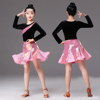 Girls competition latin dance dresses salsa chacha dance dresses