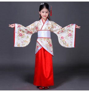 Girls folk dance costumes ancient traditional fairy tang dynasty princess hanfu drama photos cosplay robes dresses