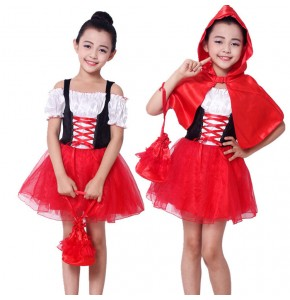 Girls Halloween dress holiday  Christmas Masquerade party performance dresses drama film cosplay stage performance costumes