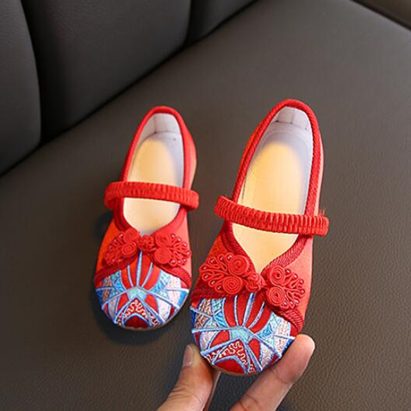 Girls hanfu fairy drama cosplay chinese folk dance embroidered shoes soft soles comfortable shoes