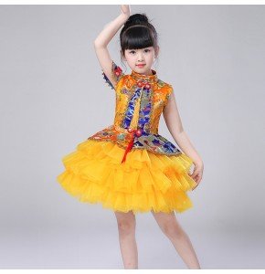 Girls jazz princess singers chorus dresses stage performance drama cosplay costumes