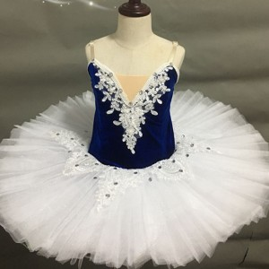 Girls kids ballet dance dress swan lake classical pancake tutu skirts stage performance ballerina dresses