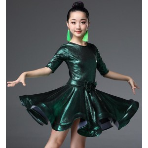 Girls kids competition latin dresses ballroom dancing dresses