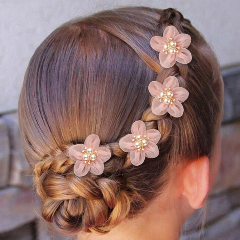 Girls kids flower headdress hairpin chinese folk dance princess fairy drama hair accessories