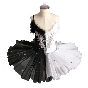 Girls kids modern dance ballet dresses  ballerina tutu skirts stage performance costumes dress
