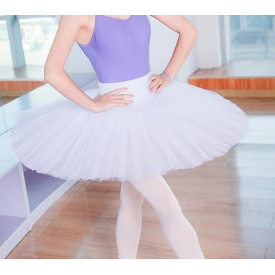 Girls women ballet tutu skirt  pancake swan lake dance skirts