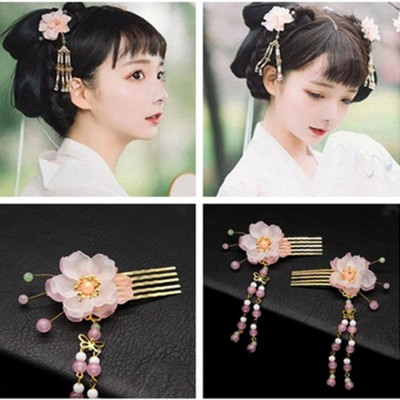 girls women hanfu Chinese folk dance hair accessories princess fairy stage performance hair comb pin hair clip