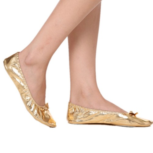 Gold belly dance shoes for women girls kids indian belly dance yoga stage performance gymnastics ballet latin flats shoes