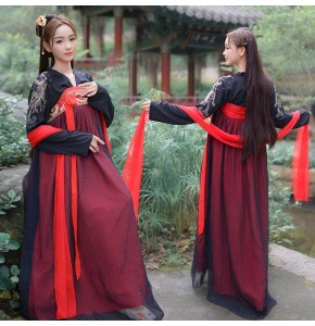 Hanfu women's chinese ancient traditional dress costumes korean kimono dress stage performance drama anime cosplay robes dresses