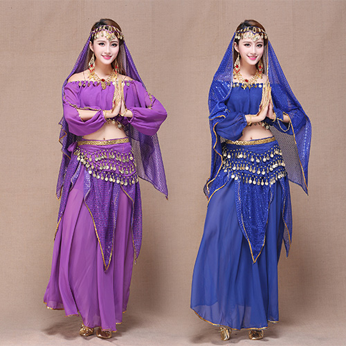 ... Red Yellow 4pcs Belly Dance Costume Bollywood Costume Indian Dress  Bellydance Dress Womens Belly Dancing Costume ...