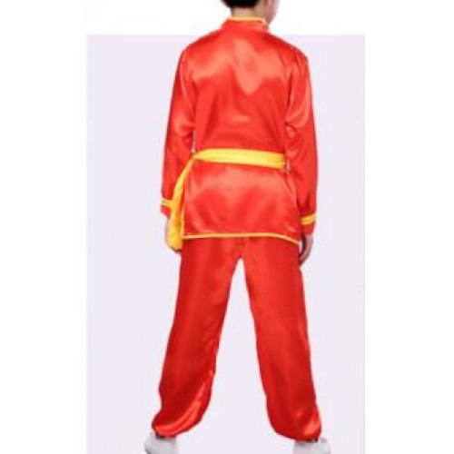 Children wushu kung fu costumes boys girls traditional tai chi student martial stage performance training unforms costumes