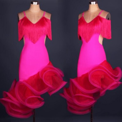 Adult/Children Latin Dance Dresses For Sale Ballroom Dance Competition Dresses Performance Dancing Dress For Women/Girls Latin