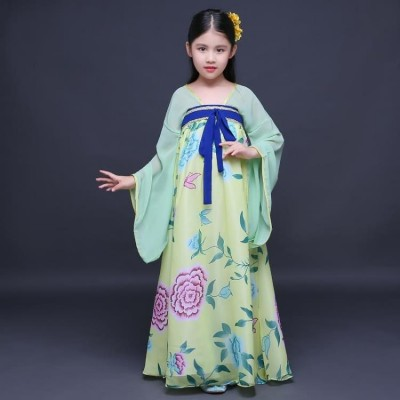 Autumn girls fairy Chinese ancient costume hanfu Cosplay dresses traditional beautiful dance costumes Kimono han dynasty dress